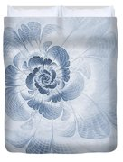 Floral Impression Cyanotype Duvet Cover