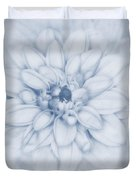 Floral Layers Cyanotype Duvet Cover