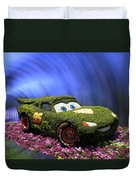 Floral Lightning Mcqueen Duvet Cover by Thomas Woolworth