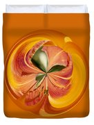Floral Orange Orb Duvet Cover