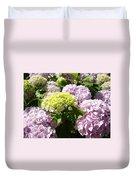 Floral Pink Lavender Hydrangea Garden Art Prints Duvet Cover