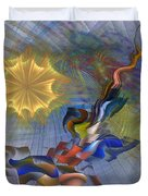 Floral Predator - Square Version Duvet Cover
