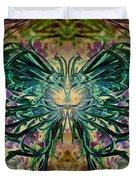 Floral Synapse 2 Duvet Cover