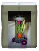 Floral Table Piece Duvet Cover