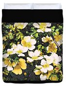 Floral Yellow Duvet Cover