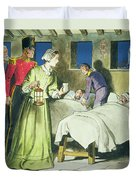Florence Nightingale From Peeps Duvet Cover by Trelleek