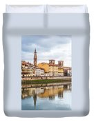 Florence Reflection Duvet Cover by Luis Alvarenga