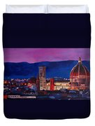 Florence Skyline Italy With Santa Maria Del Fiore Duvet Cover
