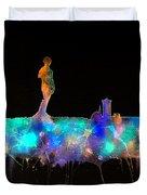 Florence Skyline - Nighttime 1 Duvet Cover