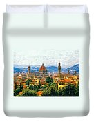 Florence Watercolor Duvet Cover