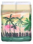 Florida City-skyline3 Duvet Cover