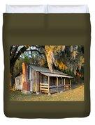 Florida Cracker Cabin Duvet Cover