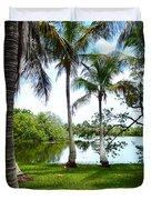 Florida Lake Duvet Cover