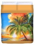 Florida Palm Sunset Duvet Cover