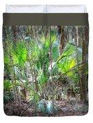 Florida Palmetto Bush Duvet Cover