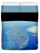Florida Peninsula, Discovery Shuttle Duvet Cover