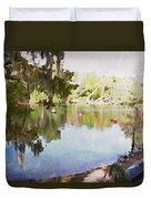 Florida Springs Waiting Duvet Cover