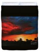 Florida Sunset Duvet Cover by Lisa Bentley
