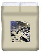 Florida Town Beach Duvet Cover
