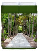 Florida Walkway Duvet Cover