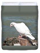 Florida White Pigeon Duvet Cover