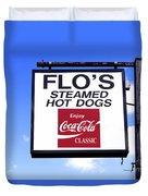 Flo's Steamed Hot Dogs Duvet Cover
