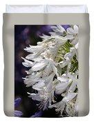 Flower-agapanthus-white-flora Duvet Cover