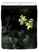 Flower Among The Moss Duvet Cover