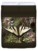 Flower And Butterfly Duvet Cover