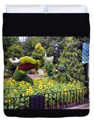 Flower And Garden Signage Walt Disney World Duvet Cover