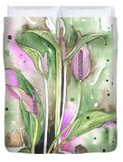 Flower Anthurium 03 Elena Yakubovich Duvet Cover by Elena Yakubovich