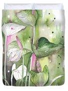 Flower Anthurium 04 Elena Yakubovich Duvet Cover