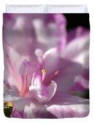 Flower--azalea-white-pink Duvet Cover