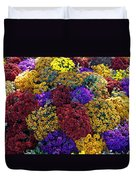 Flower Bed Across The Street From The Grand Palais Off Of Champs Elysees  Duvet Cover