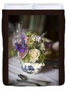 Flower Bouquet In A Teapot Duvet Cover