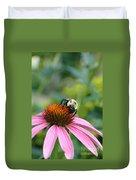 Flower Bumble Bee Duvet Cover