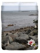 Flower By The Sea Duvet Cover