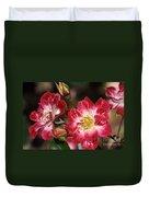 Flower-cream-pink-red-rose Duvet Cover