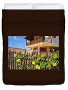 Flower Fence For A Beach Loft In Jeri Duvet Cover