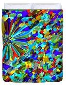 Flower Fight Abstract Duvet Cover