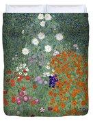 Flower Garden Duvet Cover by Gustav Klimt