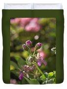 Flower-geranium Buds Duvet Cover