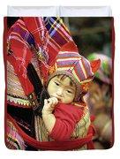 Flower Hmong Baby 01 Duvet Cover