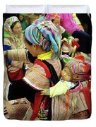 Flower Hmong Baby 03 Duvet Cover