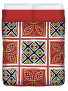 Flower Hmong Embroidery 01 Duvet Cover