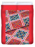 Flower Hmong Embroidery 02 Duvet Cover