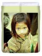 Flower Hmong Girl 02 Duvet Cover