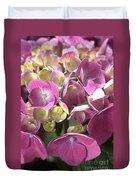 Flower-hydrangea Pink Duvet Cover