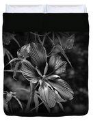 Flower In B-w Duvet Cover