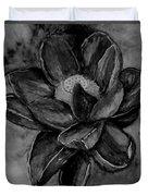 Flower In Black And White Duvet Cover